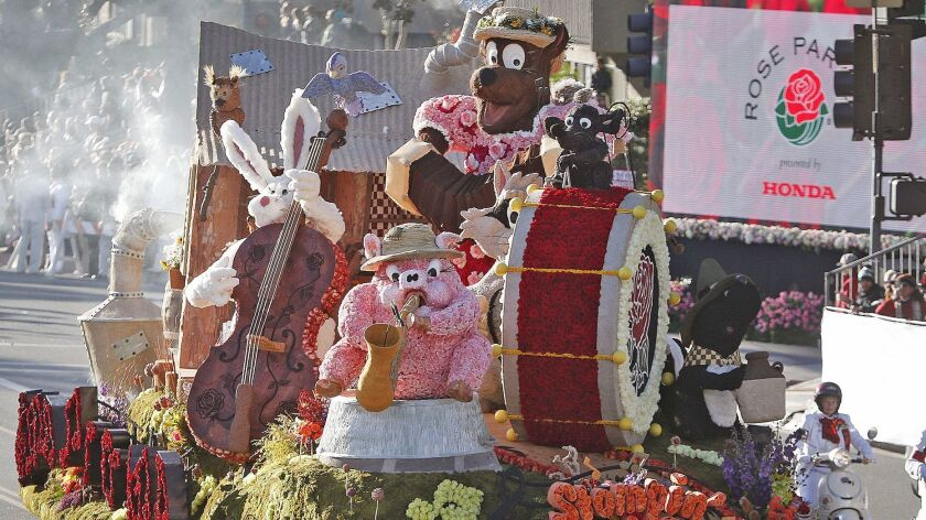 "The City of Burbank float, built by the Burbank Tournament of Roses Association entitled ""Stompin' G"