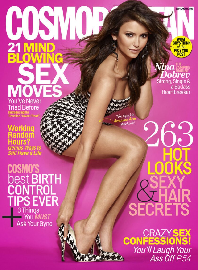 Nina Dobrev on the September 2013 cover of Cosmopolitan