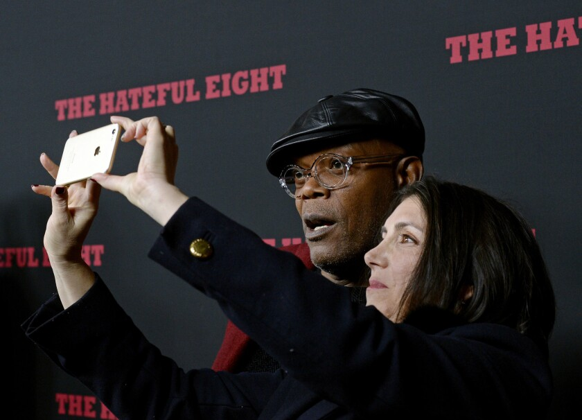 Samuel L. Jackson and Stacy Sher
