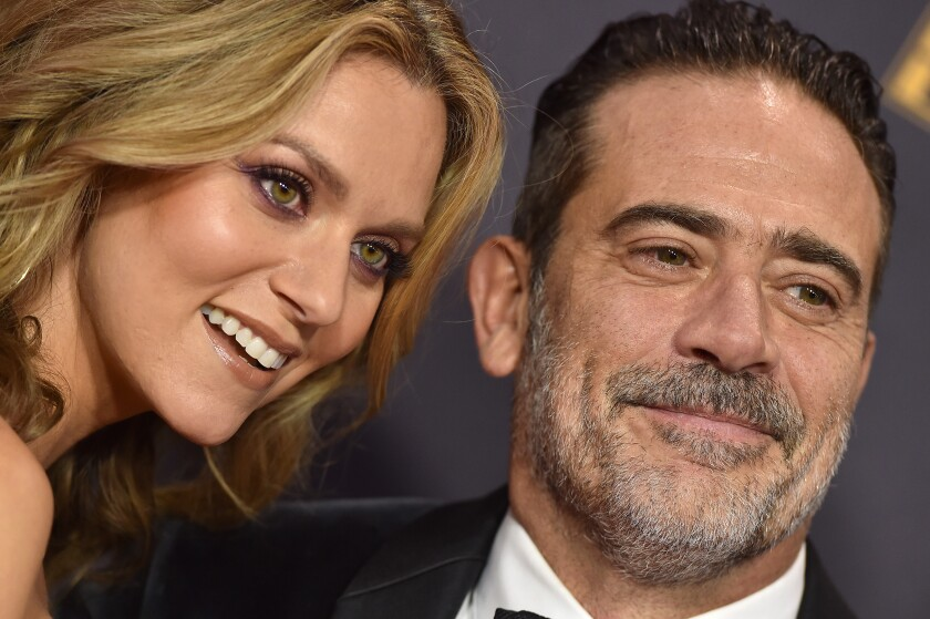 Hilarie Burton and Jeffrey Dean Morgan at the 69th Emmys