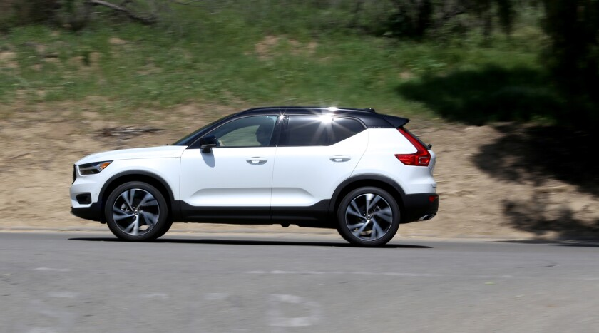 LOS ANGELES CA. APRIL 10, 2018: The Volvo XC40 SUV was on the road on April 19, 2018. This is for a