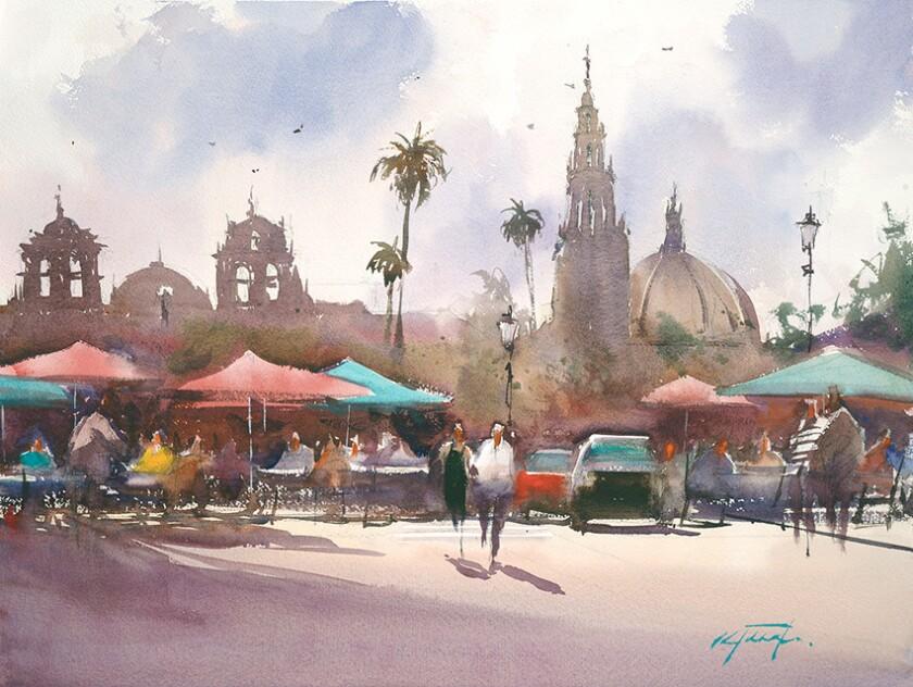 Balboa Park Plaza by Keiko Tanabe