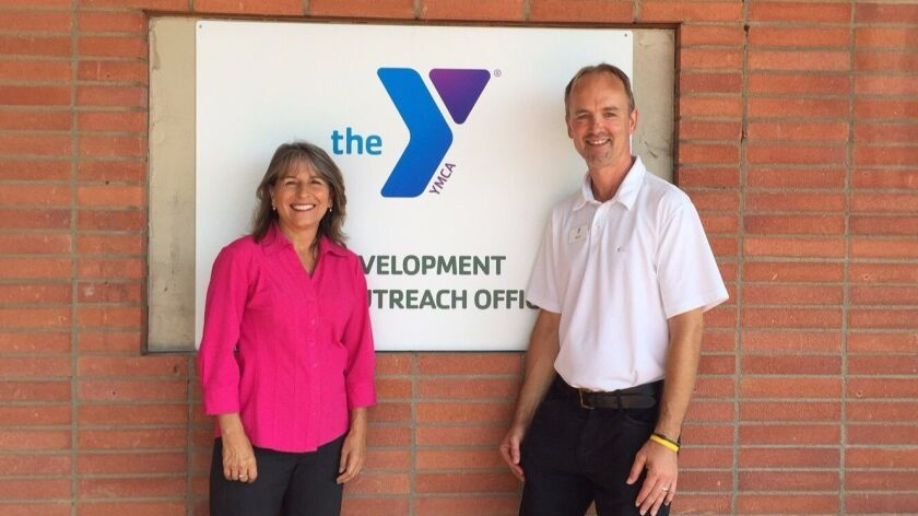 District 2 City Council member Lorie Zapf with Mike Roberts, executive director of the expanding Bea