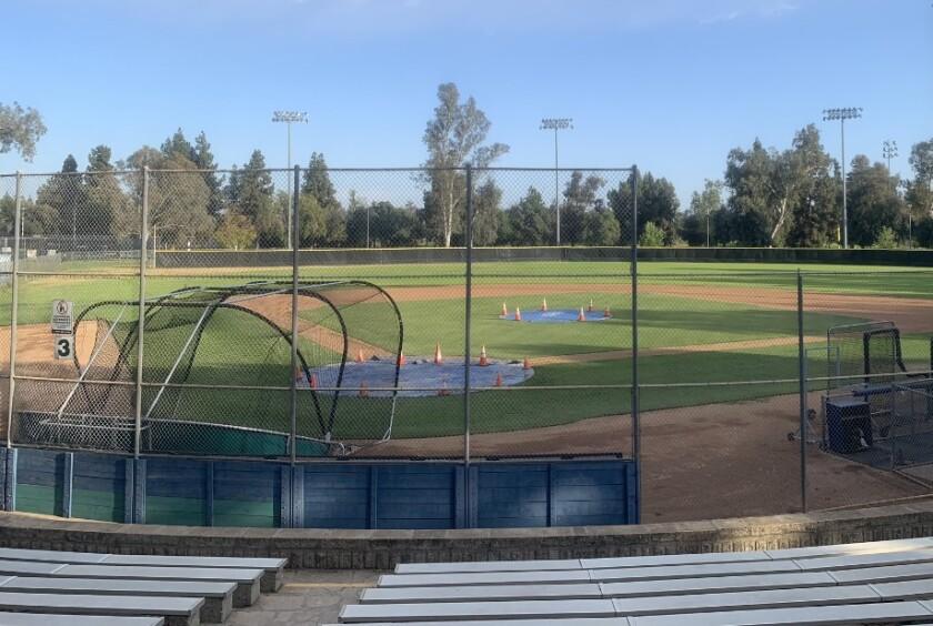 Pasadena La Salle's home baseball field at Arcadia County Park