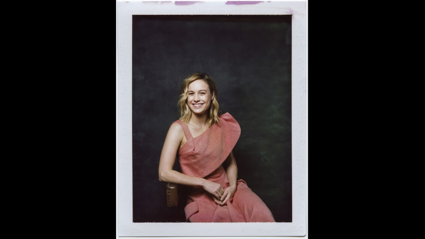 """An instant print portrait of director-actress Brie Larson, from the film """"Unicorn Store."""""""