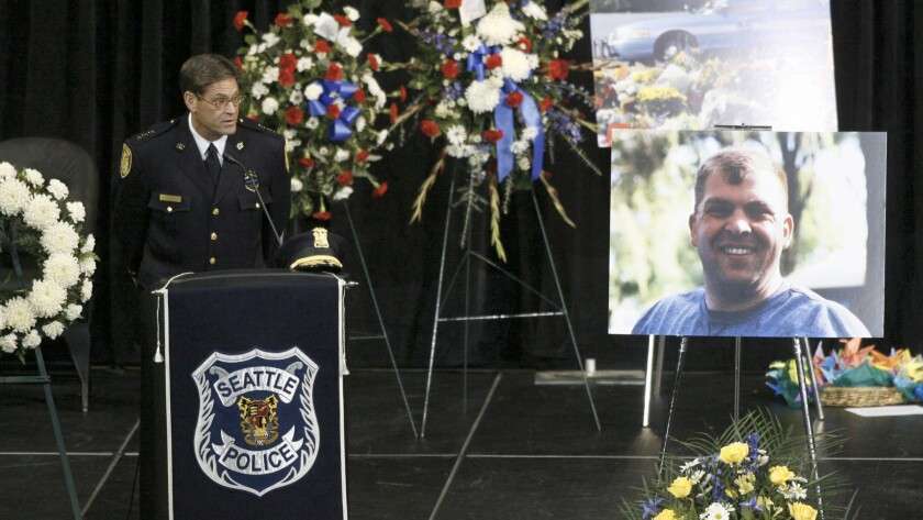 The memorial service for Seattle Police Officer Timothy Brenton.
