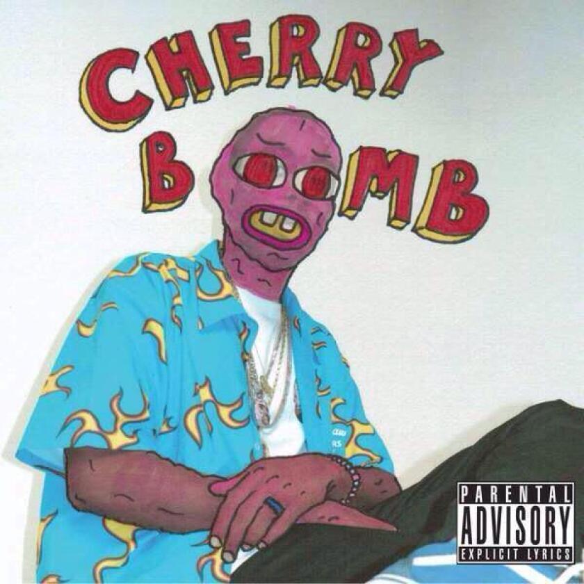 "The cover art for Tyler, the Creator's new album, ""Cherry Bomb."""