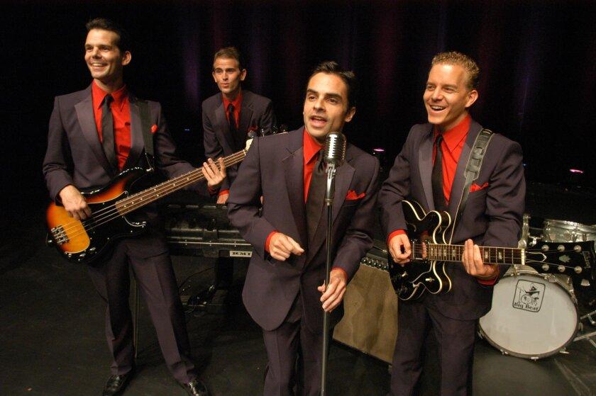 "Original ""Jersey Boys"" cast members J. Robert Spencer, Daniel Reichard, David Noroña and Christian Hoff at La Jolla Playhouse in 2004."