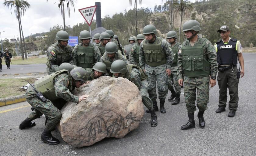 APTOPIX Ecuador Transport Strike