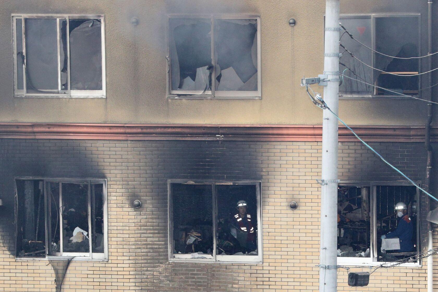 Japan anime studio fire: Man shouting 'You die' bursts in