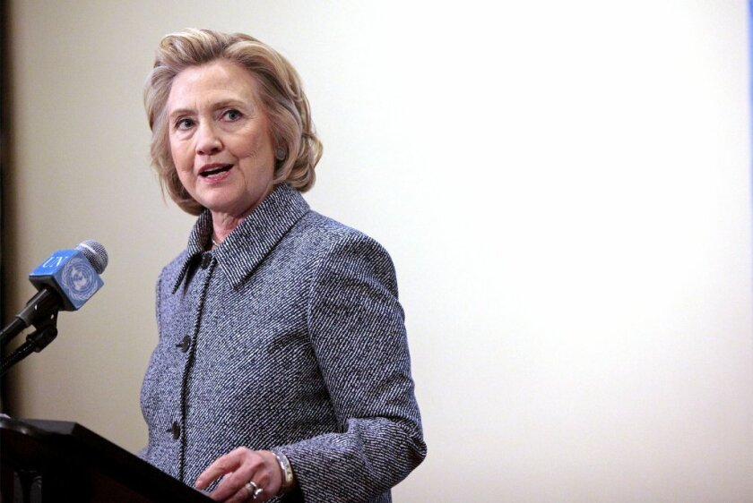 Hillary Rodham Clinton at a news conference in New York on Tuesday, during which she answered questions about her use of a private email account while she was secretary of State.