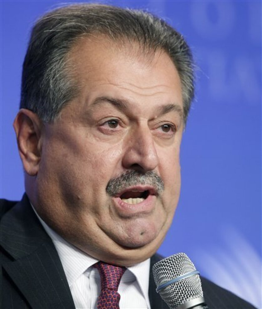 FILE - In this Sept. 22, 2011 photo, Andrew Liveris, Chairman and CEO of Dow Chemical, speaks at the Clinton Global Initiative, in New York. Dow Chemical Co. and the Saudi Arabian Oil Co. said Saturday, Oct. 8, 2011, that they signed an agreement that advances their plan to build one of the world's biggest chemical plants in Saudi Arabia. The $20 billion complex is expected to begin production in 2015. (AP Photo/Mark Lennihan, File)