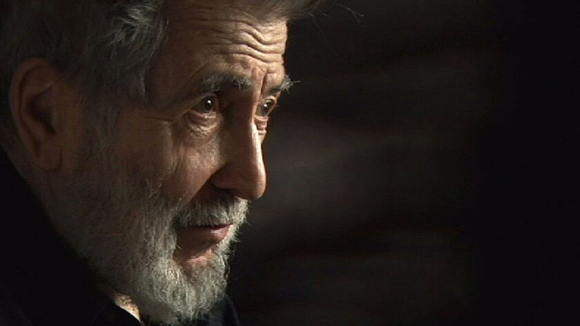 "Nat Hentoff appears in a scene from the 2014 movie ""The Pleasures of Being Out of Step: Notes on the Life of Nat Hentoff."""