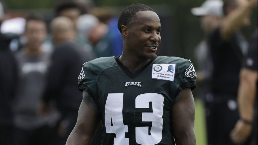 Philadelphia Eagles' Darren Sproles during training camp on July 27.