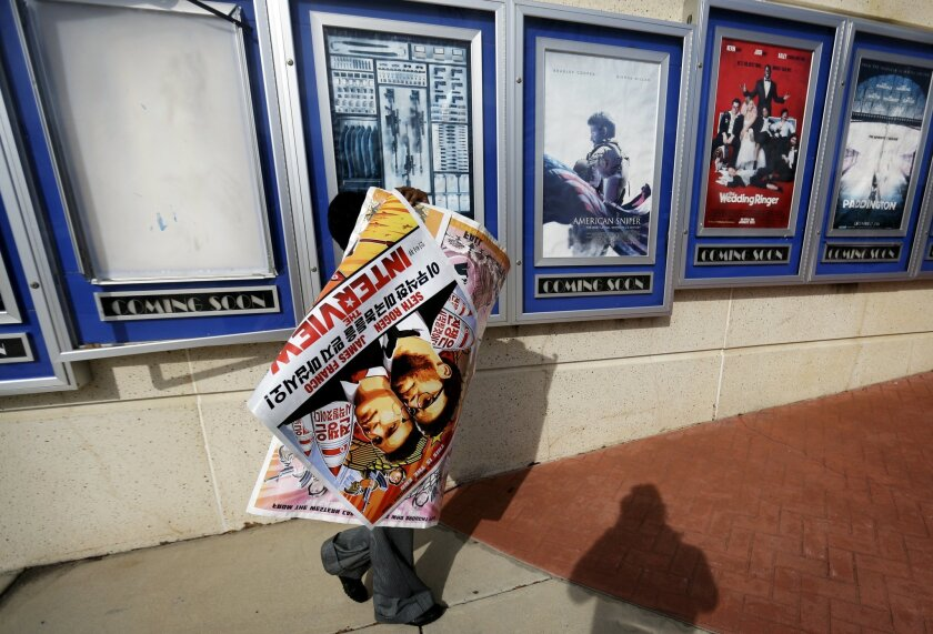 'The Interview' posters coming down