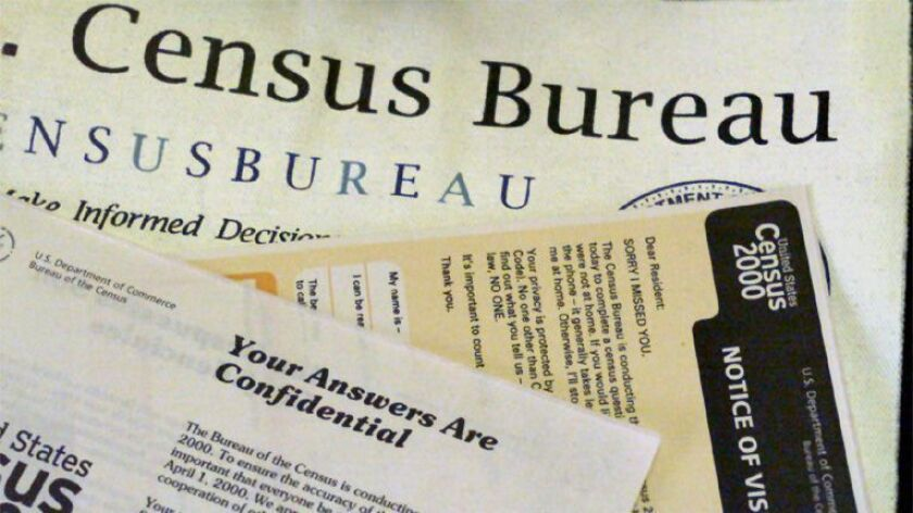 Paperwork used by census takers during the 2000 count.