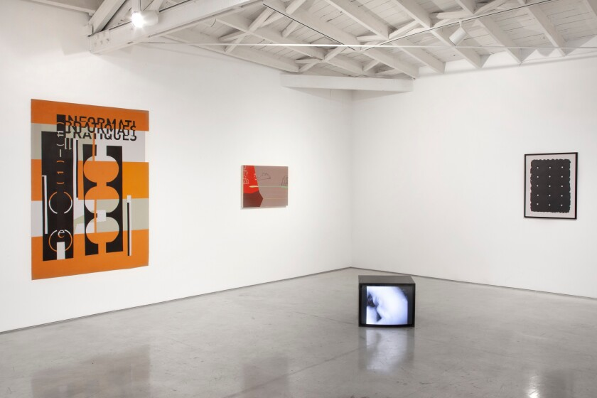 """Installation view of """"Please Recall to Me Everything You Have Thought of"""" at Morán Morán."""