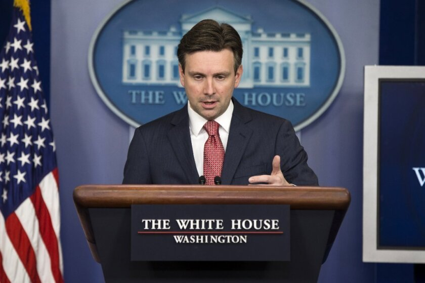 Press Secretary Josh Earnest (shown here on Jan. 6) was asked why President Obama didn't focus on 'Islaimic extremism.'