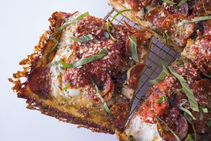 A square-slice pepperoni pizza from Apollonia's Pizzeria in Los Angeles. This off-menu item is only offered on Fridays and after 4 p.m. on Saturday and Sunday.