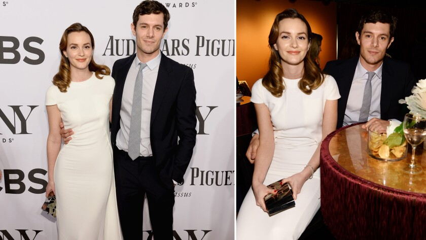 Newlyweds Leighton Meester and Adam Brody attend the 68th Tony Awards at Radio City Music Hall on Sunday in New York City.