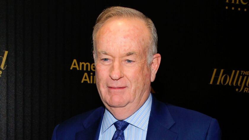 "FILE - In this April 6, 2016, file photo, Bill O'Reilly attends The Hollywood Reporter's ""35 Most Po"