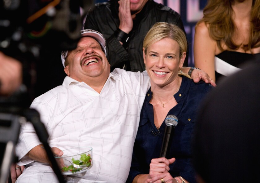 Chelsea Handler Salutes The Late Chuy Bravo Her Former Sidekick Los Angeles Times