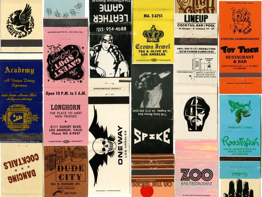 Exhibition of gay bar matchbooks.