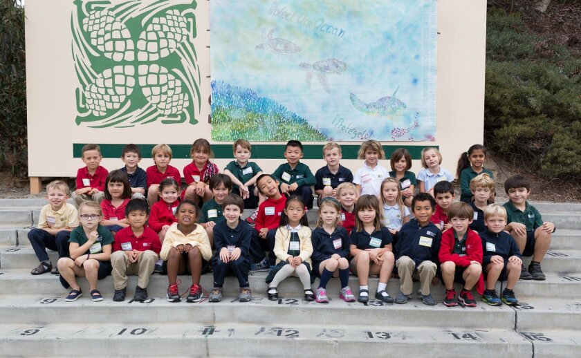 """Using the theme """"Our Ocean,"""" Del Mar Pines School created a schoolwide mural for the Wyland """"Water Is Life"""" National Art Competition and won in the K-4 category."""