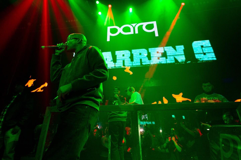 Legendary rapper Warren G lit up Parq nightclub on Friday, April 20, 2018.