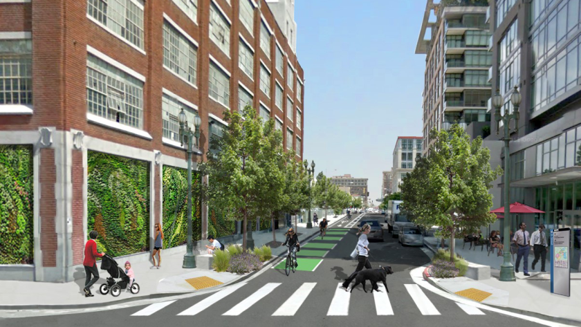 """Rendering of the proposed """"My Figueroa"""" project."""