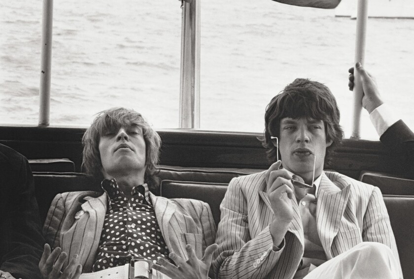 """Brian Jones and Mick Jagger in New York, 1966. The Stones' earliest recordings are collected in the new """"The Rolling Stones in Mono"""" 15-CD box set."""