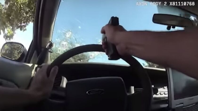 Video shows Anaheim police firing 76 shots during 'alarming and irresponsible' chase
