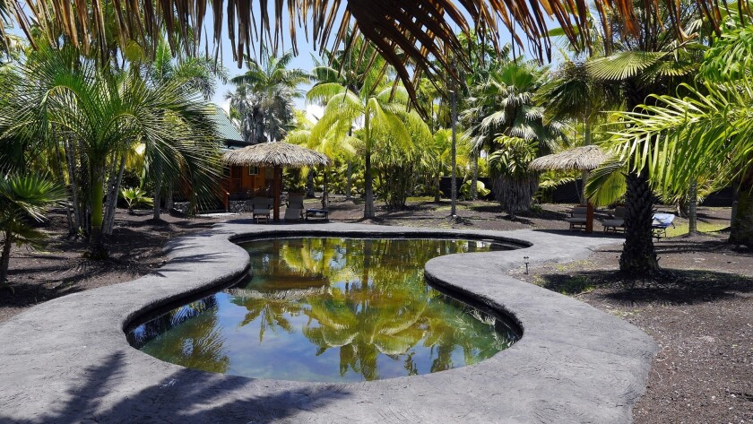 Guests can enjoy a saltwater pool at Kipuka, a series of cottages without the usual resort offerings such as shops and restaurants.