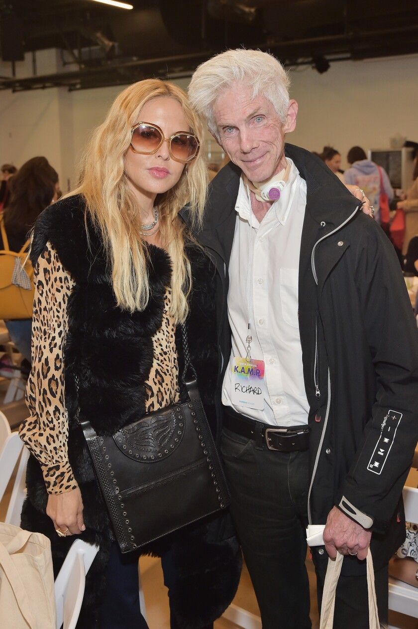 Rachel Zoe, left, and Richard Buckley at the Hammer Museum's K.A.M.P. event.