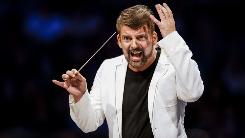 Matthias Pintscher conducts the Los Angeles Philharmonic on Tuesday at the Hollywood Bowl.