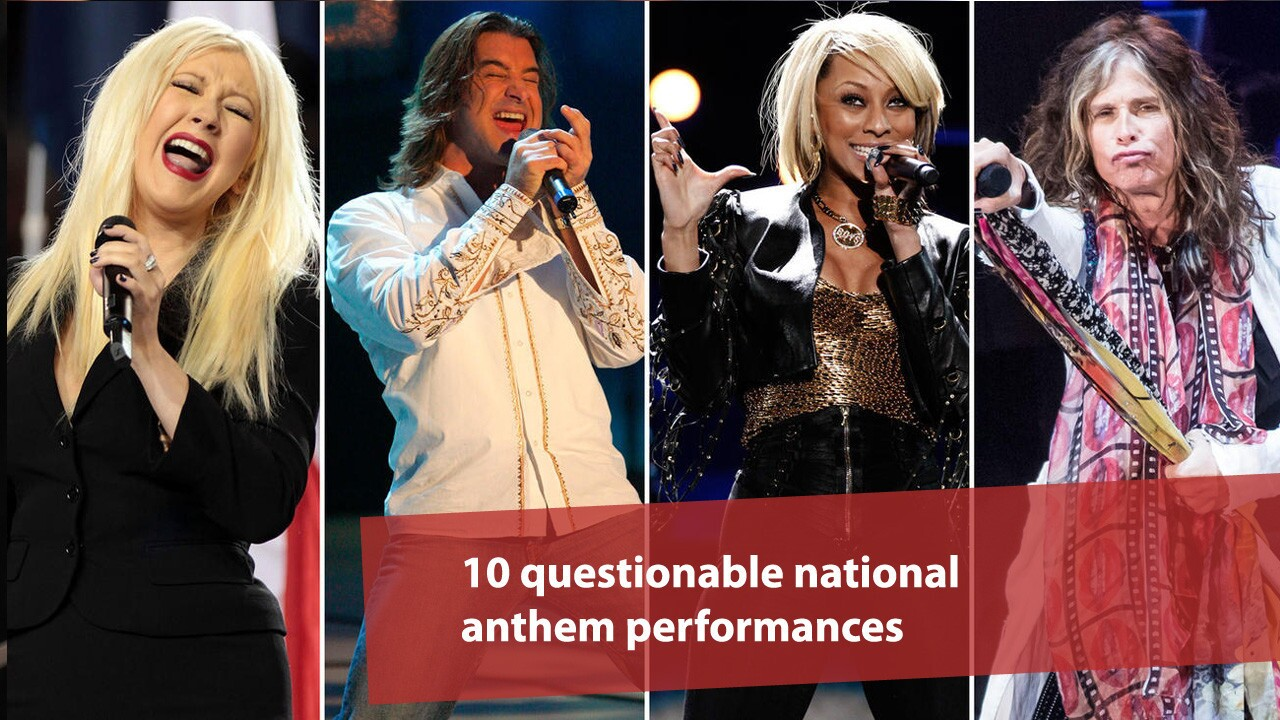 Oh say can you sing? 10 questionable national anthem performances