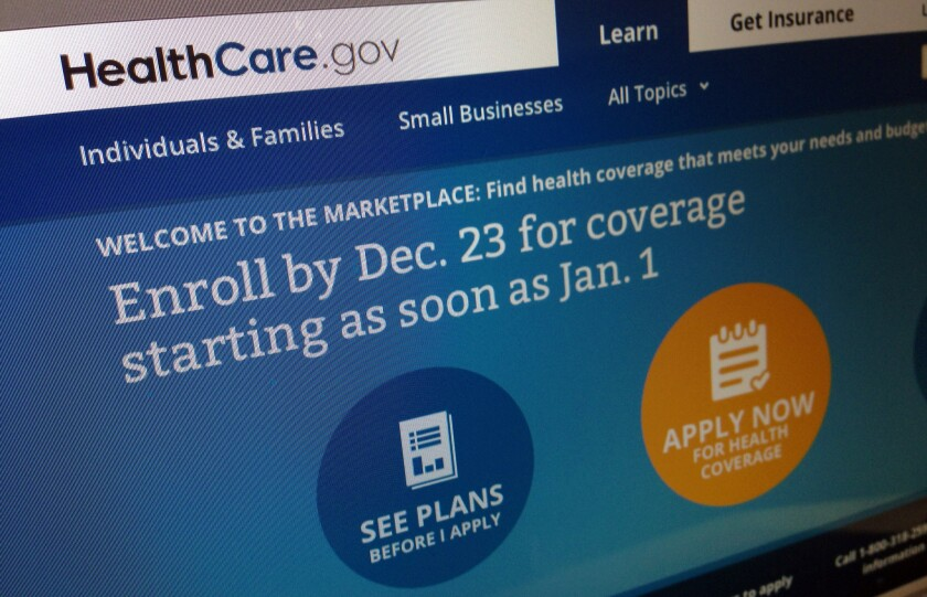 The HealthCare.gov website on Friday, noting to enroll by Monday for coverage starting as soon as Jan. 1, 2014.