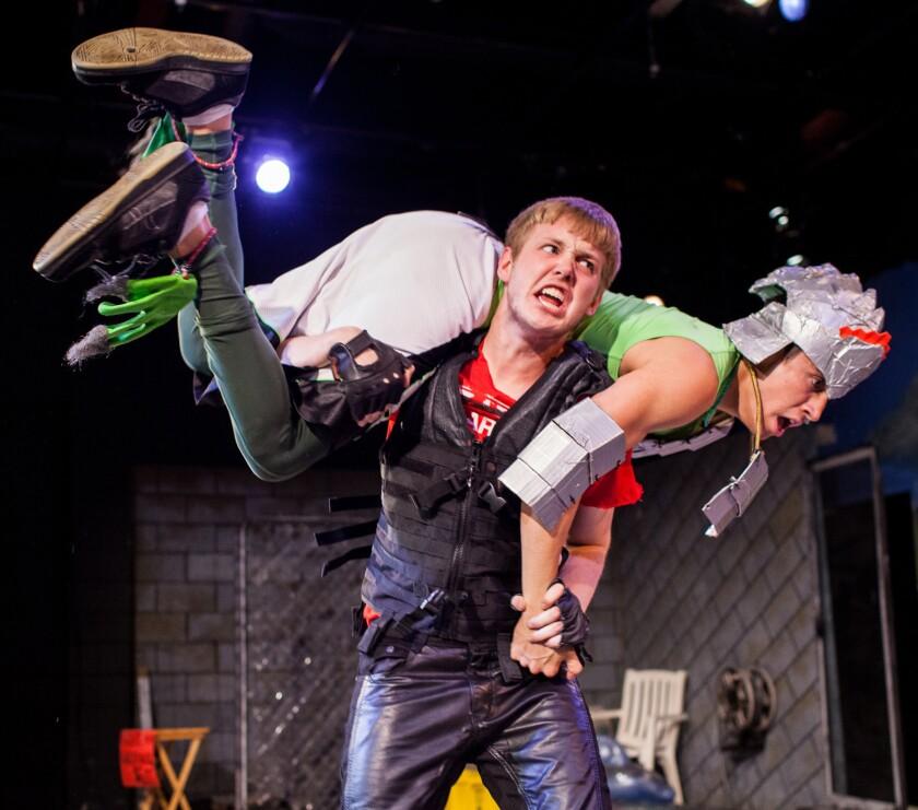 "Ian Bamberg and Adan Martin Rocha perform in ""Backyard"" at the Echo Theater."
