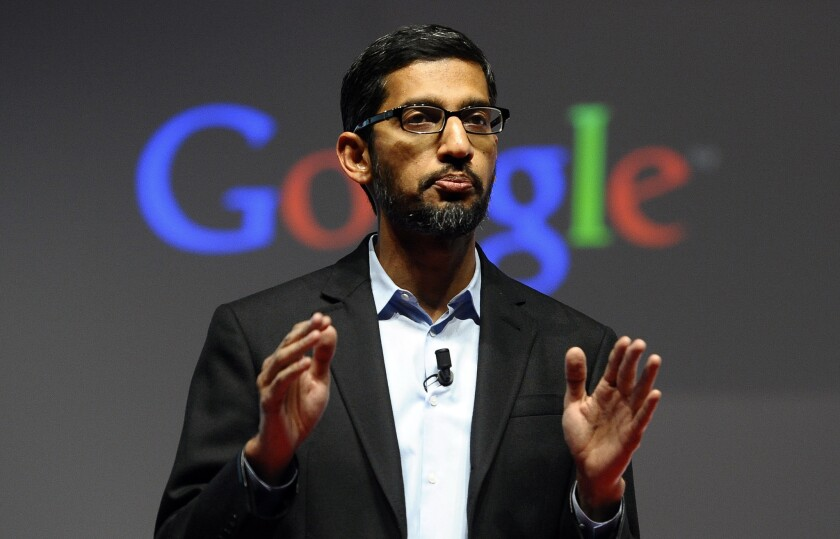Sundar Pichai has had a meteoric rise since joining Google in 2004.