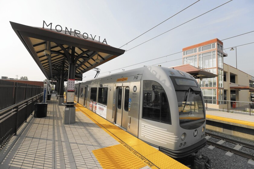 The Gold Line station in Monrovia