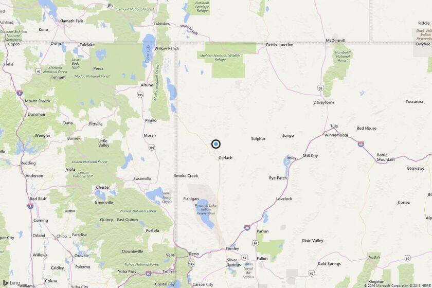 Earthquake: 3.9 quake strikes near Gerlach-Empire, Nev.
