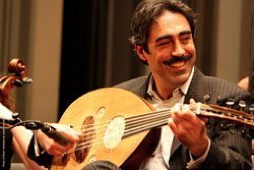 Acclaimed oud and violin virtuoso Simon Shaheen and his quintet will fill the Price Center East Ballroom with a mix of Middle Eastern and Western sounds Feb. 8.