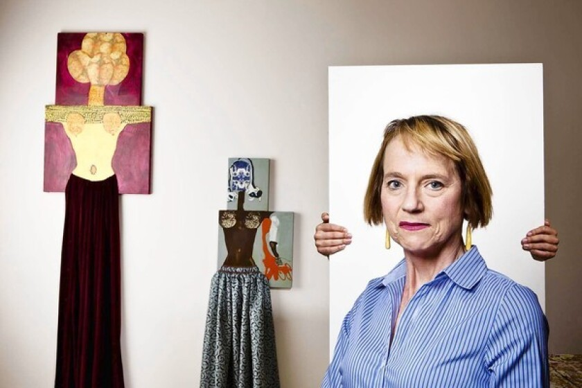 Artist Katherine Sherwood was 44 when a hemorrhage in her brain's left hemisphere paralyzed the right side of her body. After that, though, her artwork dramatically changed.