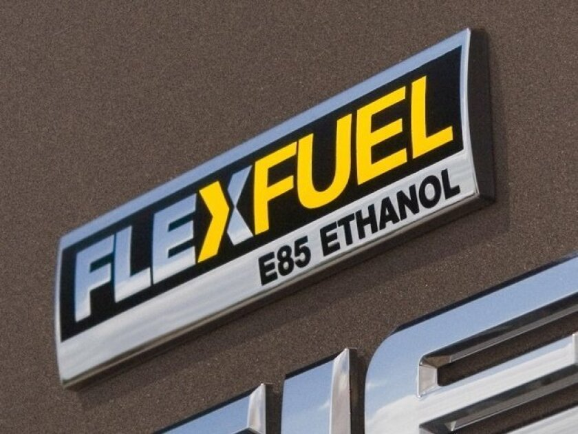 Vehicles with this FlexFuel logo can use E-85 ethanol.
