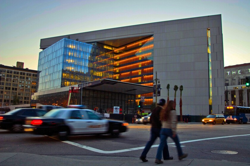The downtown headquarters of the Los Angeles Police Department, shown in 2009.