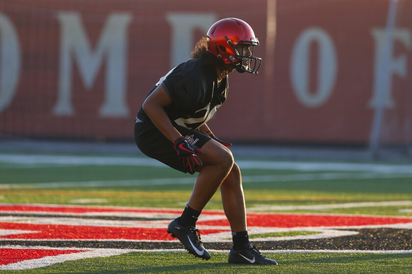 San Diego State sophomore safety Rashad Scott returned to the field three weeks ago after missing three months while on blood thinners for blood clots in his lungs.