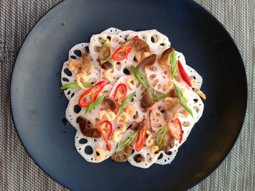 Lotus root salad from Fuchsia Dunlop