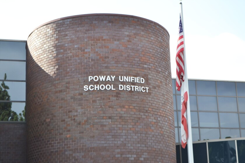 The Poway Unified School District office.