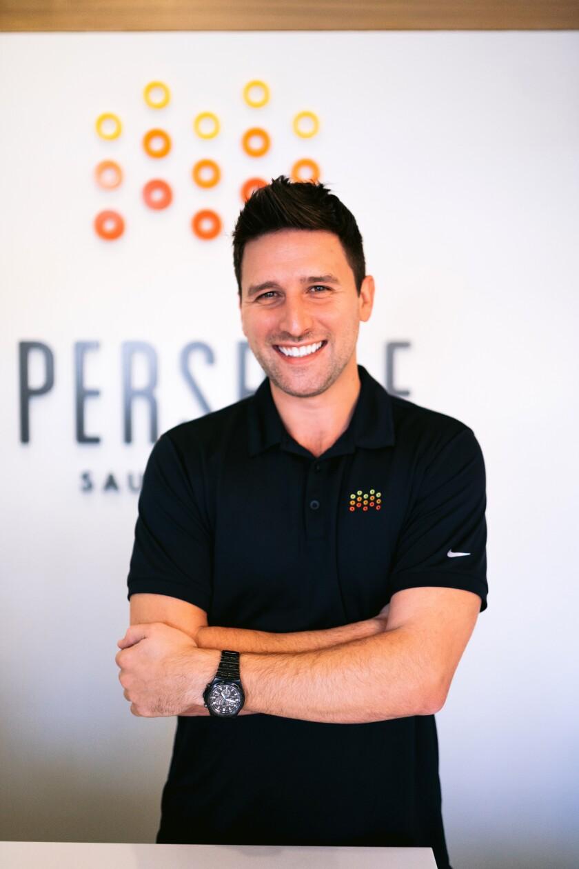 Lee Braun, director ejecutivo de Perspire Sauna Studio.