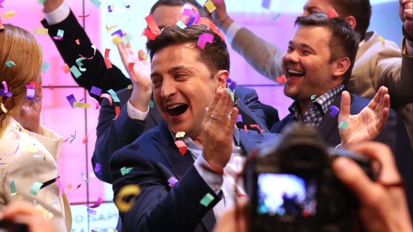 Presidential elections in Ukraine, Kiev - 21 Apr 2019